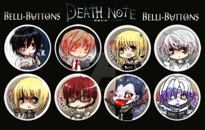 Death note +buttons+ by jinyjin