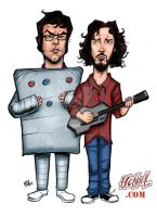 Flight of the Conchords by hcnoel