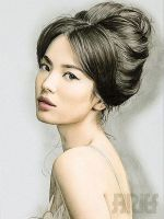 Song Hye Kyo color Drawing by riefra