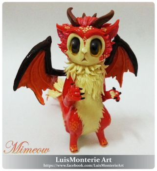 MIMEOW CAT DRAGON by LuisMonterieArt