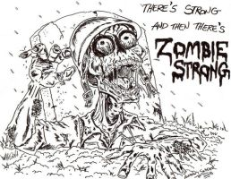 Zombie Strong by lagatowolfwood