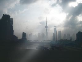 STOCK : MORNING IN Shanghai   : PREMADE BACKGROUND by thehouseofphotoshop