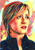Chloe Sullivan Smallville sketch card by therealbradu