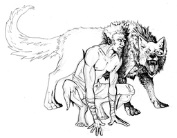 Wolf and Man by AbelPhee