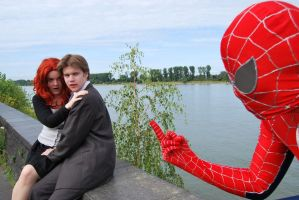 Spider-man is not amused by Lakonnia