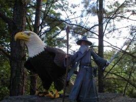 Gandalf and the Eagle by thehunterofsouls