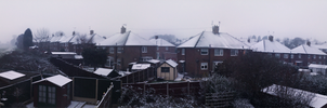 Snowing in February 2012 by LordReserei