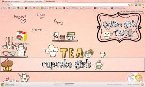 tema de google chrome Coffee Girls Tea le Cupcake by BarbieEditionsYT