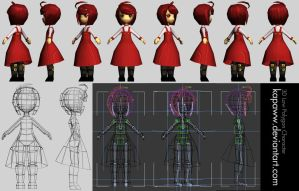 3D Low Polygon Girl Character by kapaww