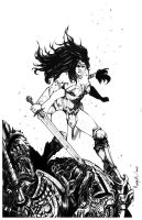 SOLD - ART FOR SALE  - WONDER WOMAN by Raapack