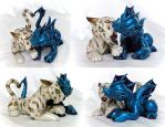 Wedding Cake Topper: Albino Tiger and Water Dragon by Shemychan