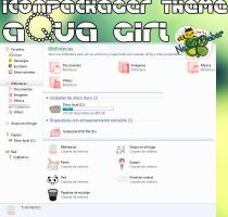 Iconpackager Theme: Aqua girl by Cursorsandmore