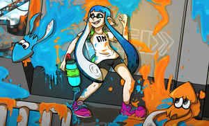Splatoon Squiddies by oreog