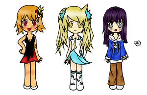 Adoptable Girls Closed by Ame--Tan