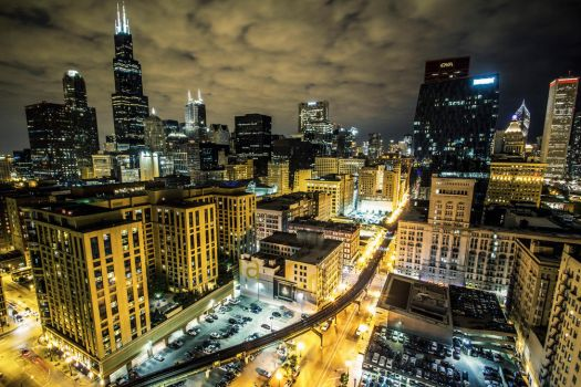 Chicago at Night by 5isalive