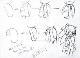 How I draw Sonic by EliHedgie95
