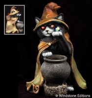 Wiz cat candle lamp by Reptangle