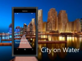 City on Water Nokia Lumia WP7 Wallpaper by biggzyn80