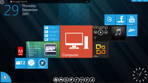 Omnimo for Rainmeter Personalized theme by dpaullaoag