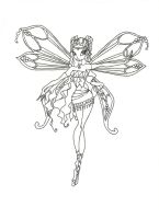 Winx Layla Enchantix coloring page by timefairy237
