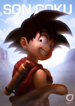 GOKU SPEED PAINTING by Christiaan Mateo by MOROTEO56