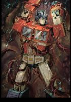 Optimus and tentacles by velveteen2006