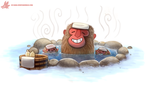 Daily Paint #1135. Snow Monkeys by Cryptid-Creations