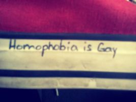 Homophobia is Gay by gdl4221