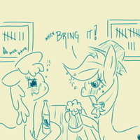 Drunk AJ 365 - Day 7 by DoggonePony