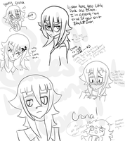 Crona Sketches by SakiCakes