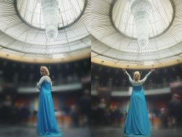 Icy glamour Elsa cosplay by MissWeirdCat