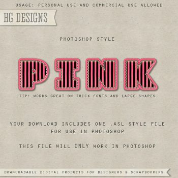 PS Style: PINK by HGGraphicDesigns