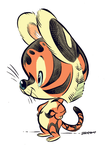 Little Baby Tiger Friend by Pocketowl