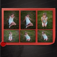 Set of 6 young girl pictures 2 by M10tje