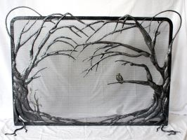 Fireplace screen2 by artistladysmith