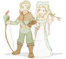 Robin Hood and Maid Marian by KillerKammy