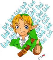 Link-Ocarina of Time XD by OwlLisa