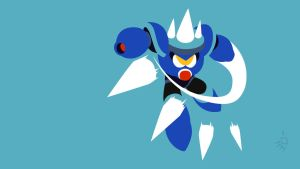 Needle Man Minimalist Wallpaper by Krukmeister