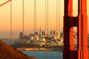 Golden Gate Morning by Qulastro