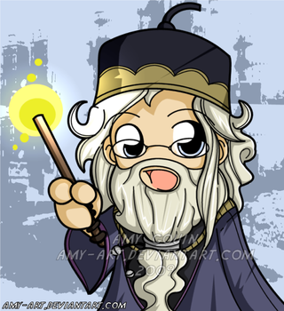 Dumbledore is here by amy-art
