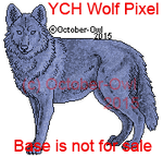 YCH Wolf Pixel Doll by October-Owl