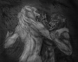 Werewolf Fight by Viergacht