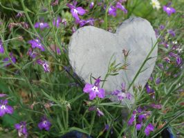 Heart in flowers by Fairling