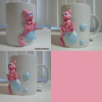 Mew Bubble Mug by ChibiSilverWings