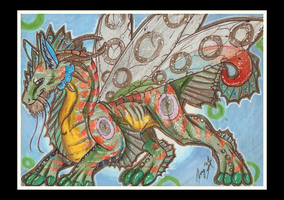 ACEO-Dragonhorse Fly by SunStateGalleries