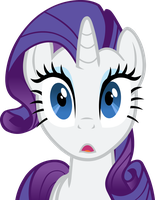 Rarity Surprised Vector by Alexstrazse