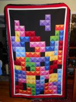 Tetris Quilt Full Length by Bella-Aurora