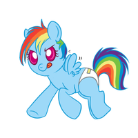 Baby Rainbow by lulubellct