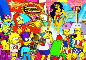 The Simpsons meet Wonder Woman by Chalana87