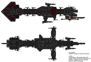 Omega Chi Advanced Destroyer EAS Yamato by Danny420Dale